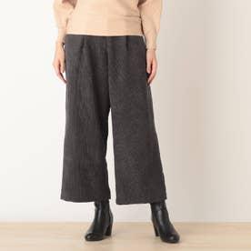 ◆【藤本美貴さん着用商品】コ-ディロイワイドパンツ (ディープグレー)