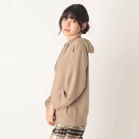 ◆【藤本美貴さん着用商品】もちさら抜け襟プルオーバー (タバコブラウン)
