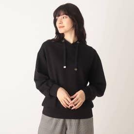 ◆【藤本美貴さん着用商品】もちさら抜け襟プルオーバー (ブラック)