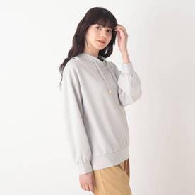 ◆【藤本美貴さん着用商品】もちさら抜け襟プルオーバー (ライトグレー)