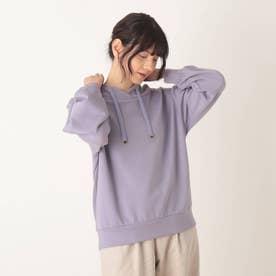 ◆【藤本美貴さん着用商品】もちさら抜け襟プルオーバー (ライトパープル)
