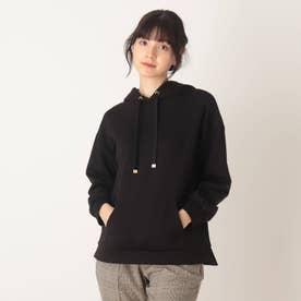 ◆【藤本美貴さん着用商品】もちさらプルパーカー (ブラック)