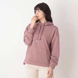 ◆【藤本美貴さん着用商品】もちさらプルパーカー (ラズベリーピンク)