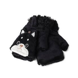 おもしろアニマル2WAY手袋 (いぬ/ブラック)