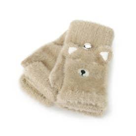 アニマルシャギー手袋 (サンドベージュ)