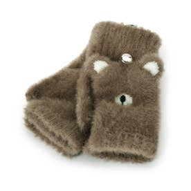 アニマルシャギー手袋 (ダークブラウン)