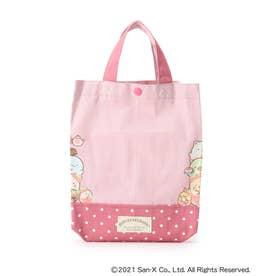 【すみっコぐらし】シューズバッグ (ピンク)