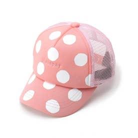 ドットロゴメッシュCAP (ピンク)