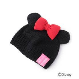 【Disney】耳付きモールニット帽 (レッド)