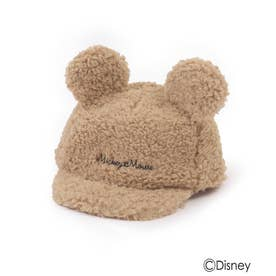 【Disney】耳付きボアCAP (ベージュ)