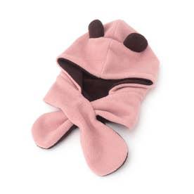 リバーシブルアニマルフリース帽 (ベビーピンク)