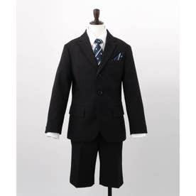【110-130cm/5点セット】セレモニースーツ (ブラック)