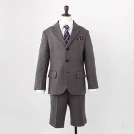 【110-130cm/5点セット】セレモニースーツ (チャコールグレー)