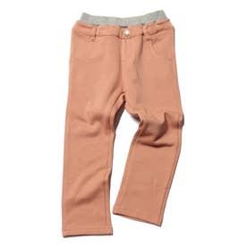 【80-130cm】裏シャギーアソートストレッチパンツ (ピンク)