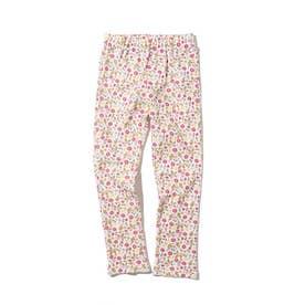 【80-120cm】カットフライス10分丈パンツ (ピンク)