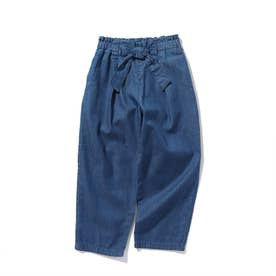 【100-140cm】ライトオンスデニムテーパードパンツ (ブルー)