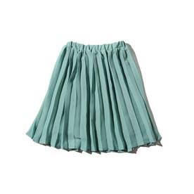 【100-140cm】プリーツスカート (ライトグリーン)