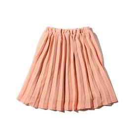 【100-140cm】プリーツスカート (ピンク)