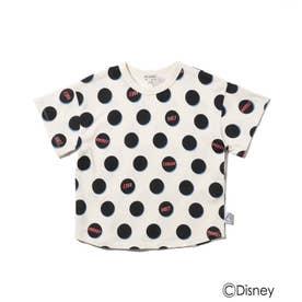 Disney/ロゴドットTシャツ (ブラック)