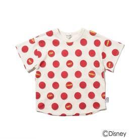 Disney/ロゴドットTシャツ (レッド)