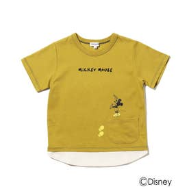 Disney/裾レイヤードポケットT (マスタード)