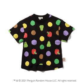【はらぺこあおむし】ドットTシャツ (ブラック)