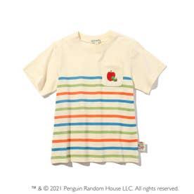 【はらぺこあおむし】ボーダーTシャツ (アイボリー)