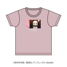 【鬼滅の刃】キャラクターズデザインT (ベビーピンク)