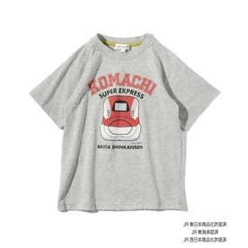 【JR】フェイスモチーフ半袖Tシャツ (グレー)