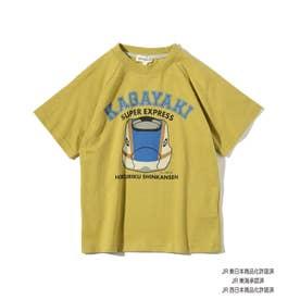 【JR】フェイスモチーフ半袖Tシャツ (イエローグリーン)