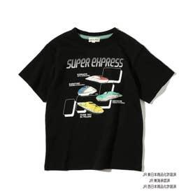 【JR】日本列島半袖Tシャツ (ブラック)