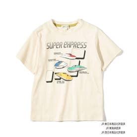 【JR】日本列島半袖Tシャツ (アイボリー)