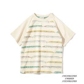 【JR】列車ボーダーラグランTシャツ (アイボリー)