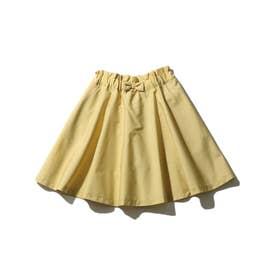 【90-140cm】インナーパンツ付きカラースカート (イエロー)