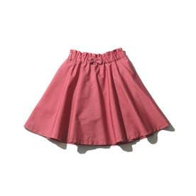 【90-140cm】インナーパンツ付きカラースカート (ラズベリーピンク)