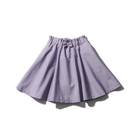 【90-140cm】インナーパンツ付きカラースカート (ライトパープル)
