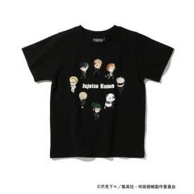 【呪術廻戦】コラボキャラクターTシャツ (ブラック)