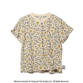 【ミニオン】総柄Tシャツ (アイボリー)
