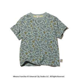 【ミニオン】総柄Tシャツ (ライトグリーン)