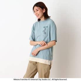 【ミニオン】裾レイヤード大人T (ライトグリーン)