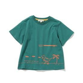 【つながる/90-140cm】KIDSアソートTシャツ (グリーン)