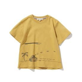 【つながる/90-140cm】KIDSアソートTシャツ (マスタード)
