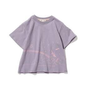 【つながる/90-140cm】KIDSアソートTシャツ (ライトパープル)