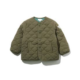 【90-150cm】薄中綿キルトジャケット (カーキ)