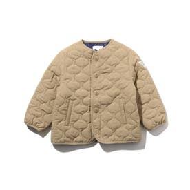 【90-150cm】薄中綿キルトジャケット (ベージュ)