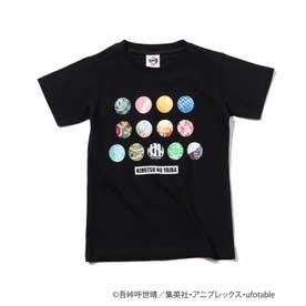 【鬼滅の刃】アイコンキッズTシャツ (ブラック)