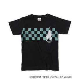 【鬼滅の刃】キャラクターモチーフTシャツ (ブラック)