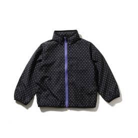 【90-130cm】総柄ポケッタブルブルゾン (ブラック)