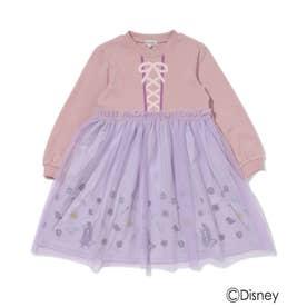 【Disney】裏毛プリンセスワンピ (ピンク)