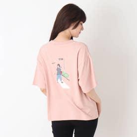 【つながる】横断歩道ママTシャツ (ピンク)